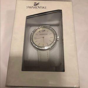 Swarovski women leather watch